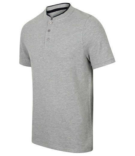 Front Row - Stand Collar Stretch Polo Shirt